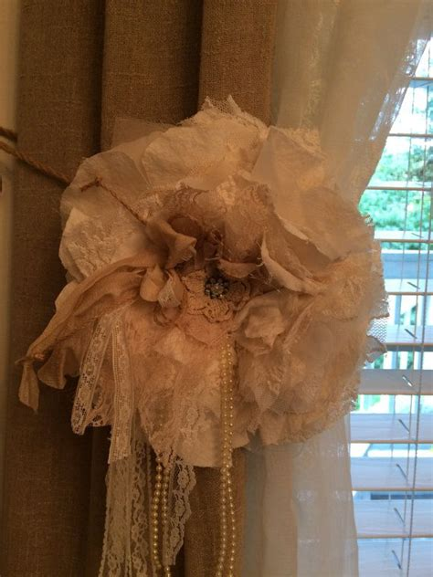 shabby chic curtain tie backs 22 best shabby chic curtain tie backs images on