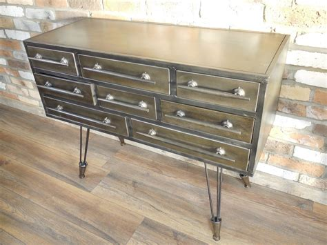 Commode En Metal by Commode En M 233 Tal Multi Tiroirs De Style Indus