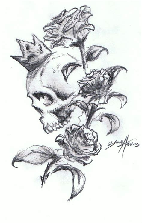 rose head tattoo designs skull n roses design by paramajamas on deviantart