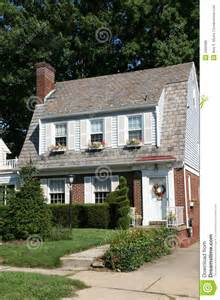 Two Story Colonial by Two Story Colonial Home Royalty Free Stock Photos Image