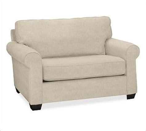 Sleeper Armchair by Buchanan Upholstered Sleeper Chair Polyester Wrap Cushions Linen Oatmeal Traditional