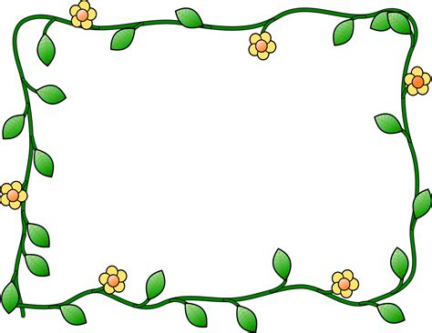 flower and vine frame   page frames floral floral