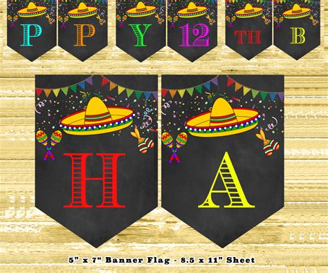 printable mexican banner mexican fiesta decorations diy mexican fiesta party bunting