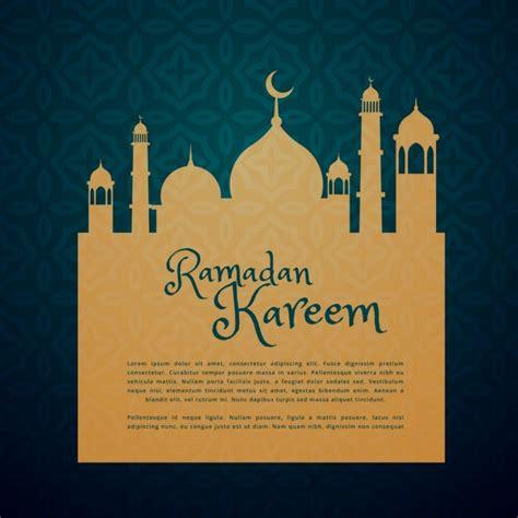 Ramadan Card Templates by Islamic Festival Ramadan Greeting Card Vector Free