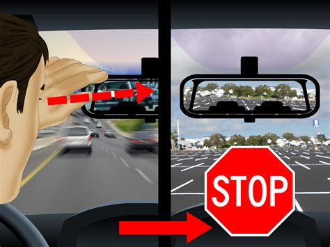 rear view how to use the rear view mirror 10 steps with pictures