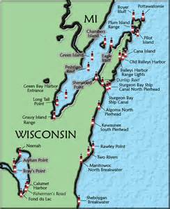 lighthouses map wisconsin lighthouse map