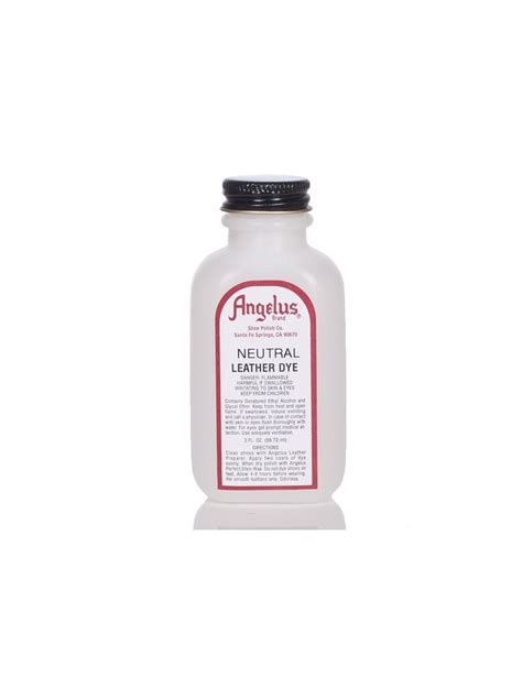 angelus paint neutral angelus dyes paint neutral 3oz leather dye leather
