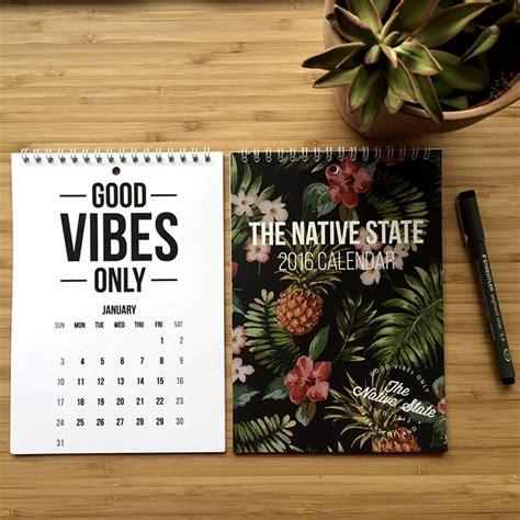 calendar design quote 50 absolutely beautiful 2016 calendar designs hongkiat