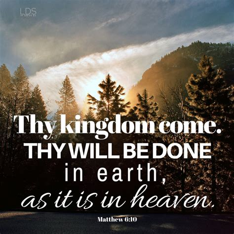 lds scripture of the day matthew 6 10