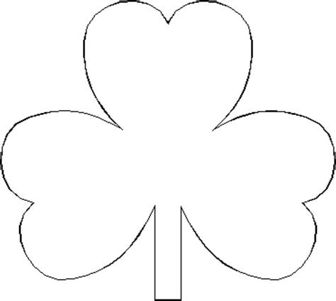 printable shamrock template printable shamrock pattern trials ireland