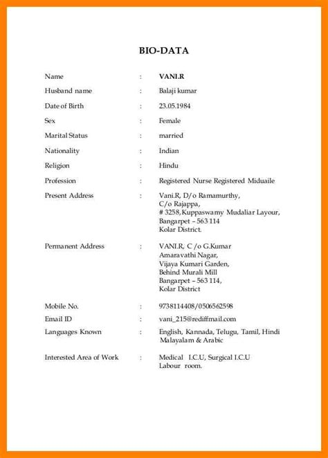 format of biodata for marriage doc marriage biodata format in english evolist co