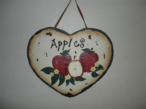 Apple Wall Decor by Kitchen Decor Apple Wall Hanging Plaque Sign Ceramic