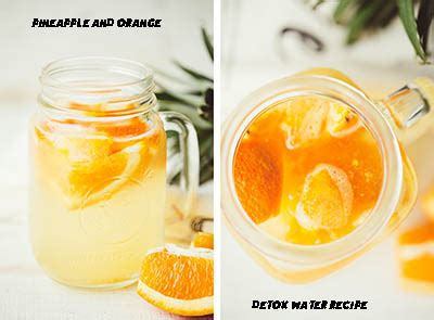 Pineapple Detox Water Recipe by Pineapple And Orange Infused Detox Water Recipe