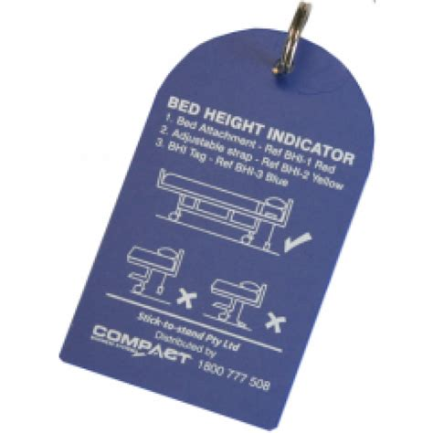 bed height indicator tag blue pack of 6 other