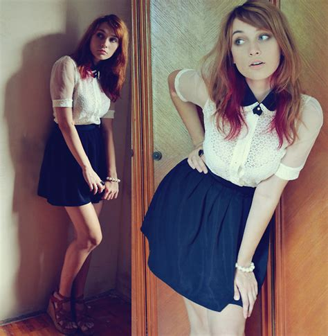 Rok And Blouse 267 natalie believe collar lace blouse nyantet skirt