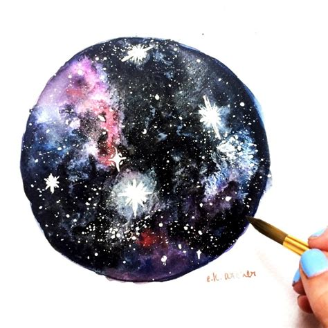 watercolor nebula tutorial how to paint a watercolor galaxy nebula and night sky 10