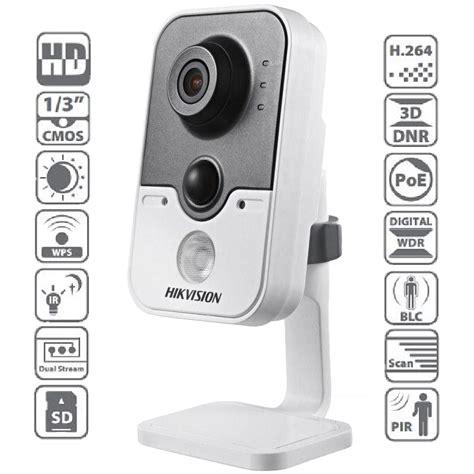 Hikvision Ip Ds 2cd2420f Iw 2 8mm 2mp Ir Cube Putih hikvision ds 2cd2420f iw αυτόνομη ip cube κάμερα wifi 1080p ip sms