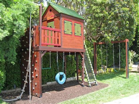 backyard play structure plans barbara butler extraordinary play structures for kids