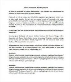 artist statement template artist statement exles 8 free pdf documents