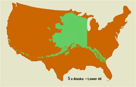 alaska map compared to us the last frontier