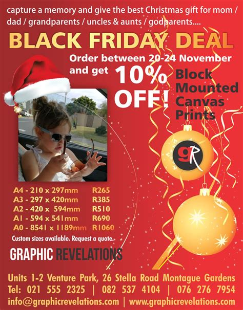 black friday deal capture a moment and give the best