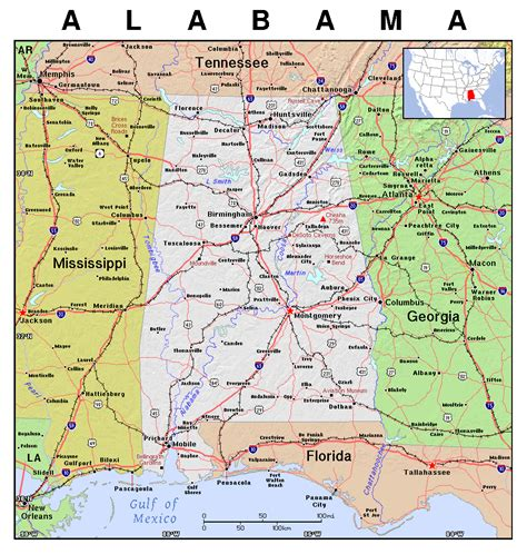 Of Alabama Search Alabama Map Usa Images