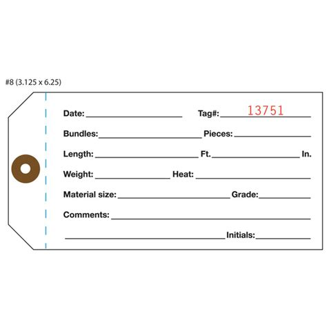inventory tag template custom inventory hang tags numbered part asset st