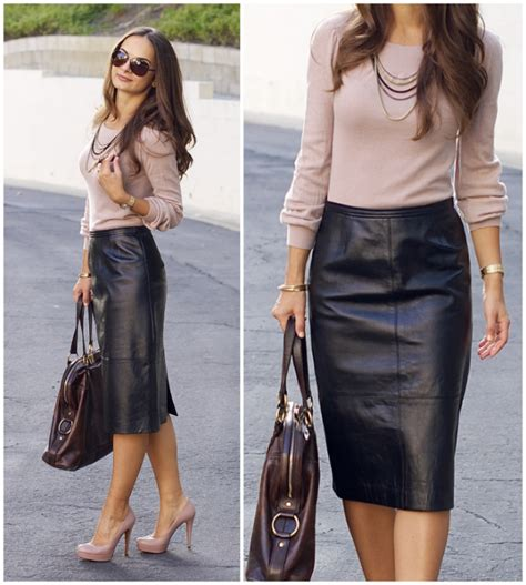 leather skirt you can wear to work practically fashion