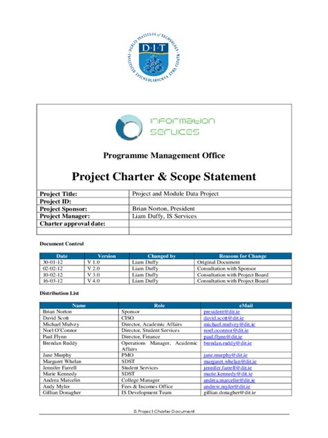 project scope template 4 free templates in pdf word