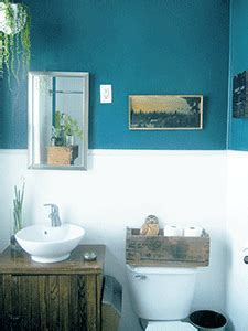 Bathroom Decorating in Blue Brown Colors, Chocolate