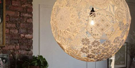 diy doily light simple suspended sphere lace l shade
