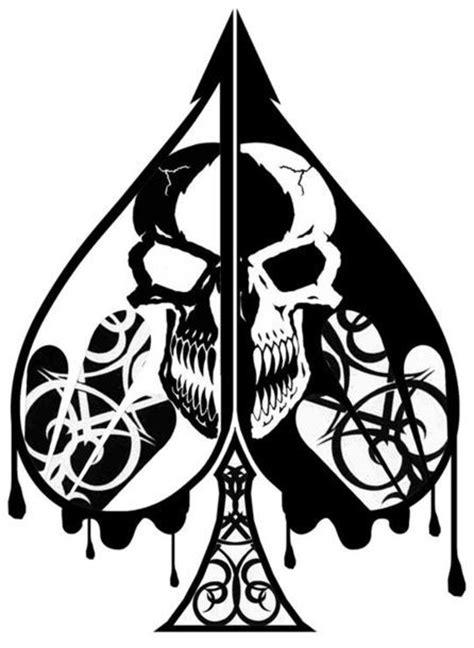 skull spade tattoo designs black spade with skull design