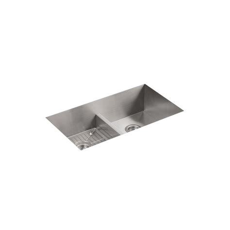 kohler staccato drop in stainless steel 33 in 4 hole