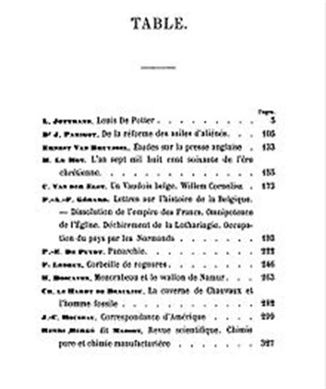 The Table Meaning by Table Of Contents