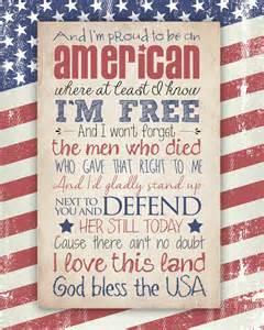 Own Backyard Lyrics God Bless The Usa Free Printable How To Nest For Less