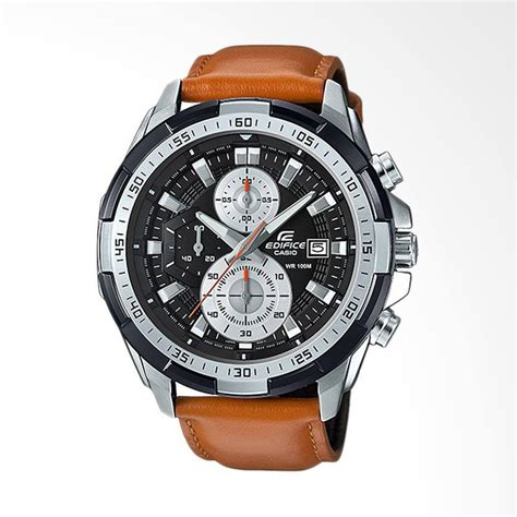 jam tangan edifice 539l jual casio edifice chronograph bahan tali genuine leather