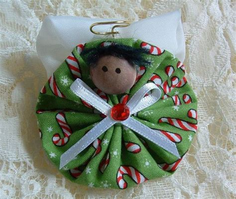 Handmade Fabric Ornaments - 17 best images about angelitos on