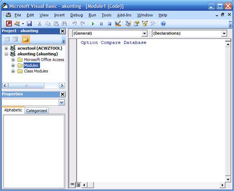 membuat database enum membuat modul sederhana di access access terapan