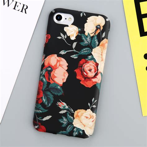 Pattern Flower 0859 Casing For Iphone 7 Hardcase 2d glossy floral flower pattern thin pc cover for iphone 6 6s 7 plus ebay