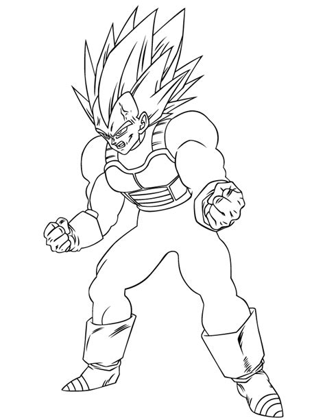 dragon ball z baby coloring pages vegeta coloring pages
