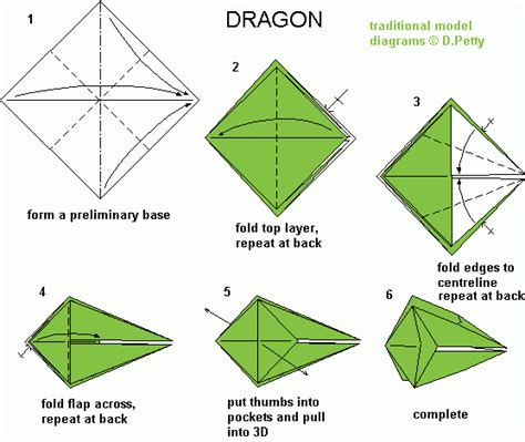 Easy Origami Dragons - origami easy