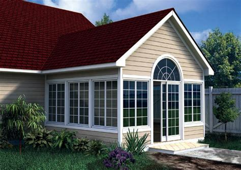 Cost Of Sunroom In Canada Project Plan 90022 Gabled Sun Room Addition