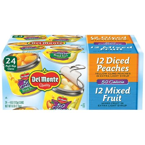 fruit 50 calories monte 50 calorie variety pack mixed fruit diced