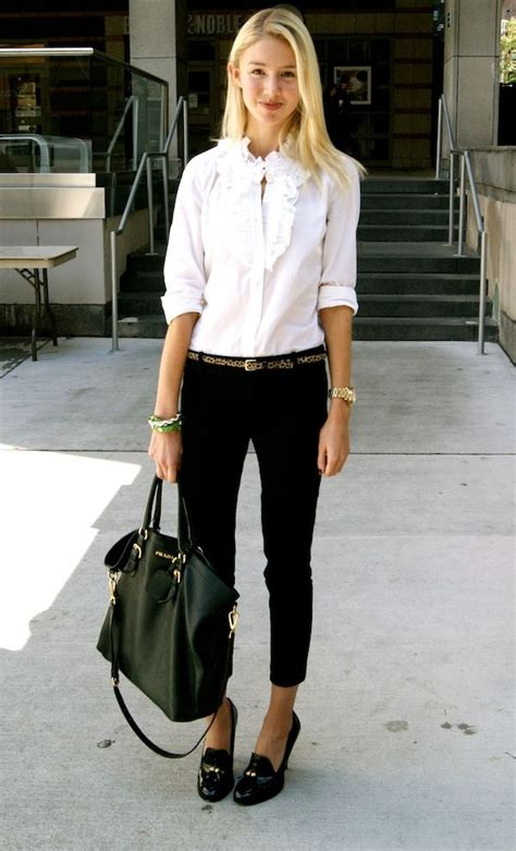 what colour goes with black and white 14 best images about outfits with high heeled loafers on