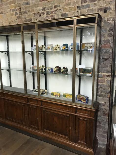 Bronze 1920s Corner Shop Display Cabinet   Antiques Atlas
