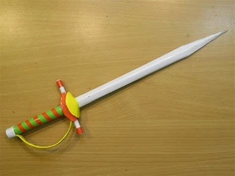 How To Make A Paper Blade - how to make a paper sword rapier mini knife easy
