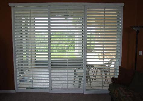 sliding faux plantation shutters