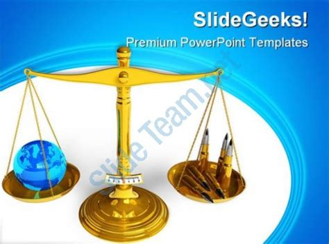 peace sign powerpoint templates blue objects free ppt professional corporate slides showing peace or war globe