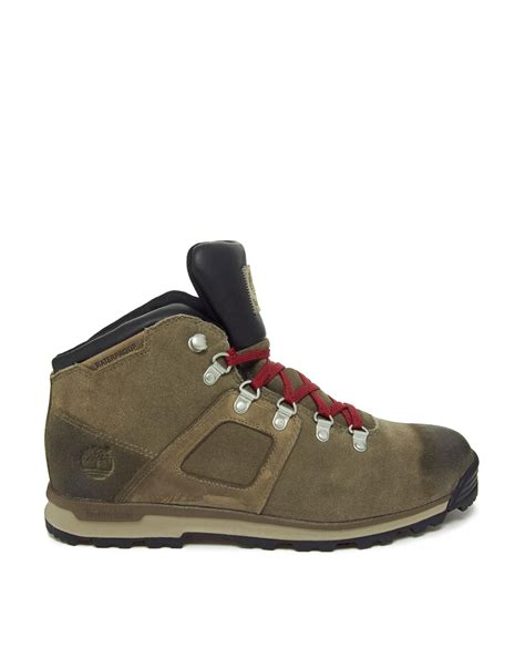 timberland hiking boots timberland gt scramble hiking boots in brown for lyst