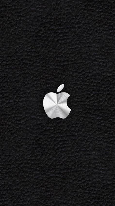 wallpaper for iphone 6 silver silver apple logo with leather background wallpaper free